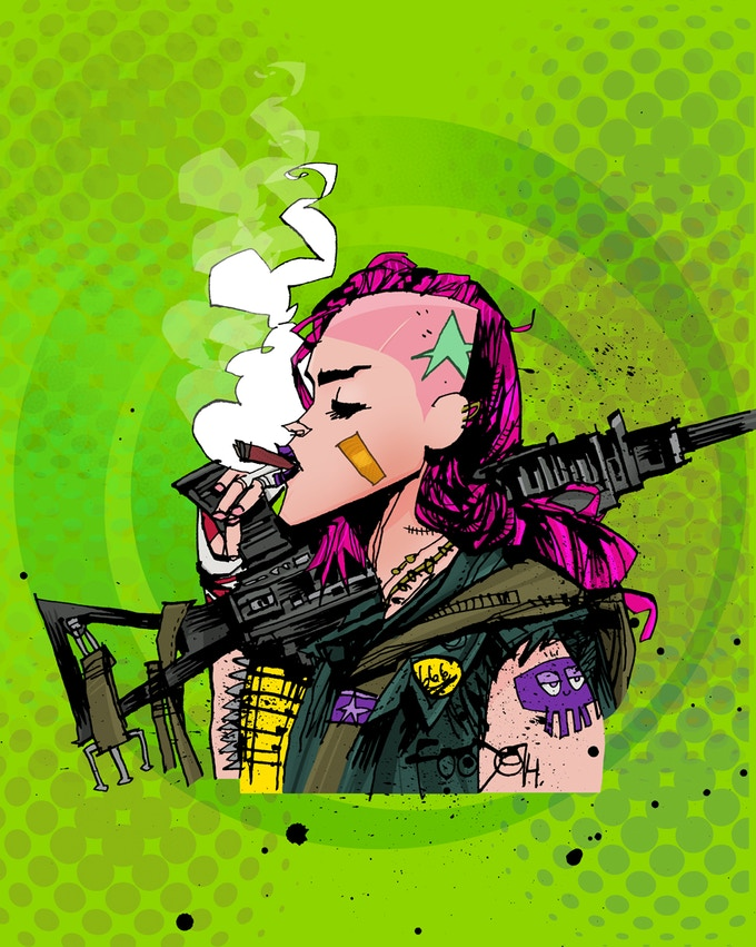 Tank Girl by project artist Jim Mahfood