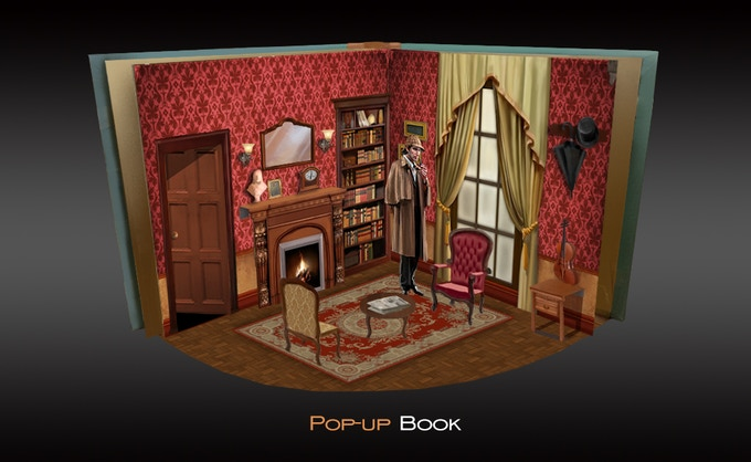 Another stretch goal- The Pop-up Book of Sherlock Holmes