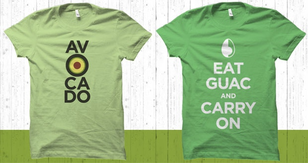 AV-O-CADO and Eat Guac And Carry On tees