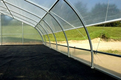 hoop house interior - similar to what we plan to use for the shiitake fruiting house