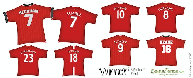 Current Winner Prints, Arsenal and Chelsea players coming soon!