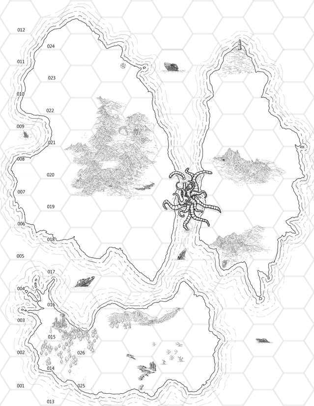 The Islands of Purple-Haunted Putrescence (an OSR module
