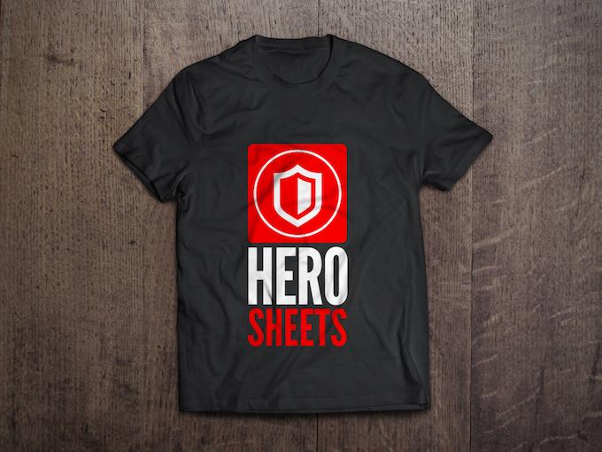 HeroSheets Kickstarter T-Shirt