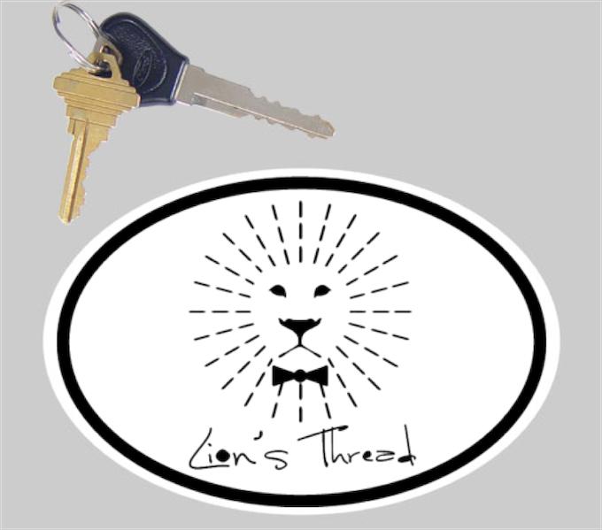 Lion's Thread Bumper Sticker