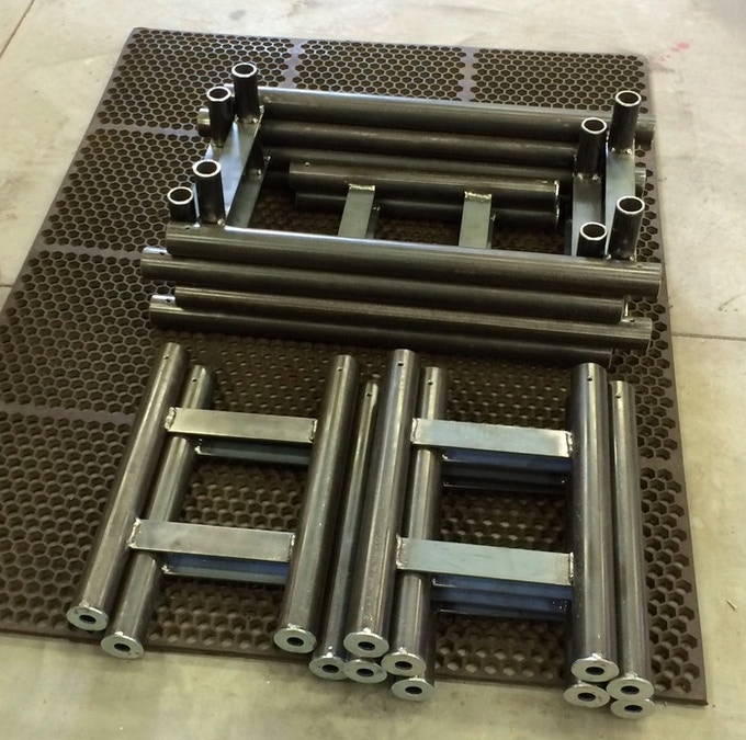Prototype SET Benches stacked