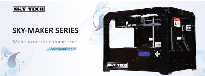 We use SKY-MAKER 800 to make ABS prints.