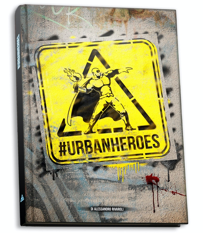 A copy of #UrbanHeroes: 280 pp, full colors, hardcover