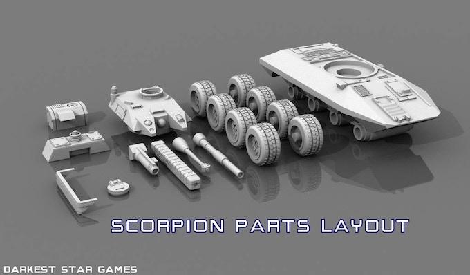 Scorpion parts layout