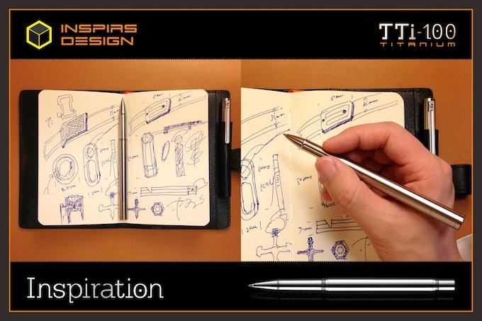 INSPIRS DESIGN-TTi-100 Titanium Roller Pen
