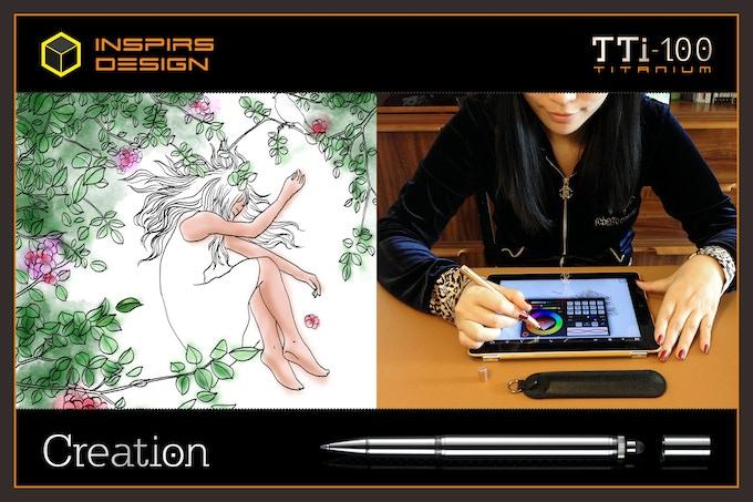 INSPIRS DESIGN-TTi-100 Titanium Roller Pen+Stylus