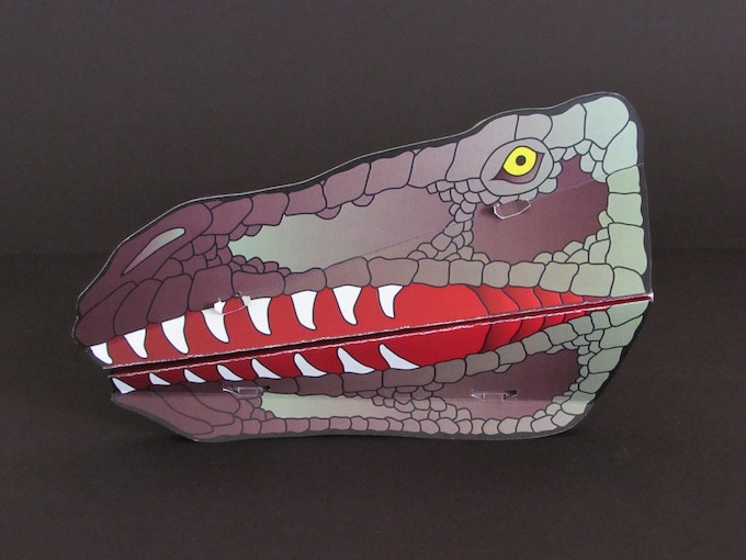 Raptor Snappet, a possible commercial pairing for Snappets and the NBA's Toronto Raptors (this design is one of eight Dinosaur Snappets).