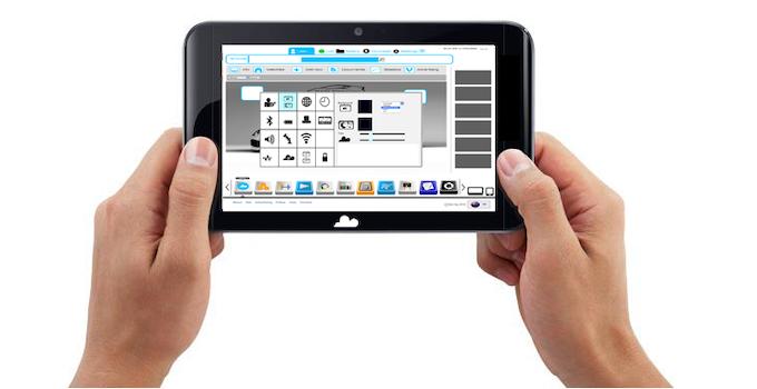 tablet open