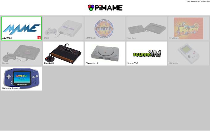 PiMAME 0.8 Menu System