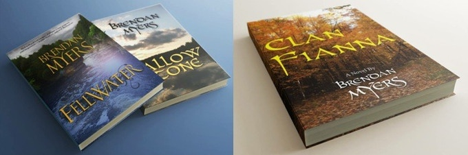 A CGI mockup of the three main books in the series, so far.