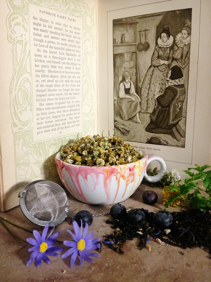 Loose leaf tea sip slip into the leaves of a story by Cinderella afternoon tea