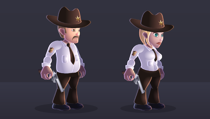 For every female toon, you will also get the male counterpart and vice-versa.