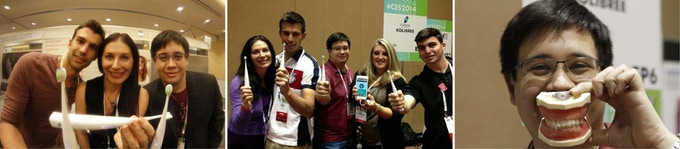 The Kolibree team at the CES 2014
