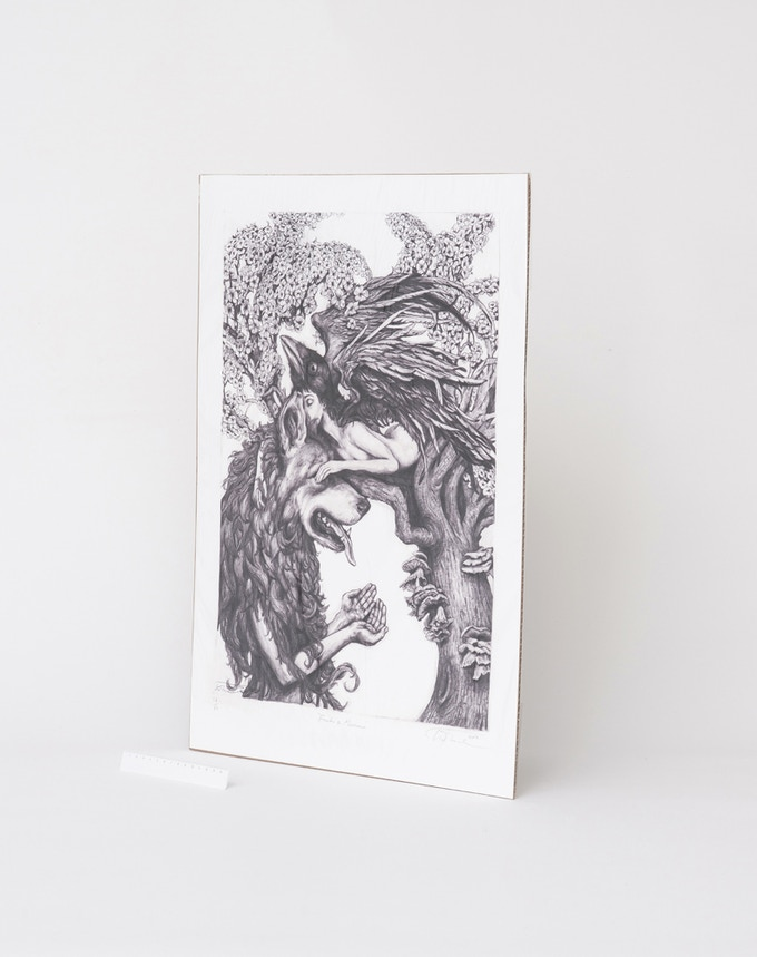 Freiki and Muninn Print