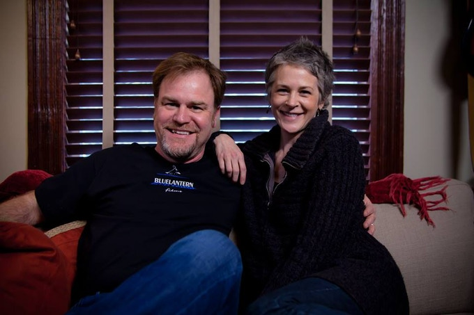 Eric Blue and Melissa McBride (Carol from The Walking Dead) shooting the Beacon Point Kickstarter video