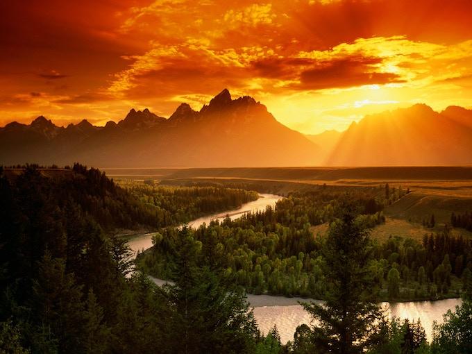 The Grand Teton in Wyoming