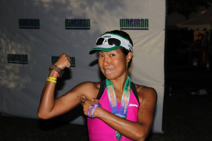 Thrilled after completing my first Ironman in 2013