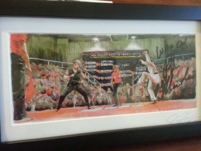 Framed Signed Karate Kid Print