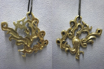Phoenix Pendant in Bronze: Back and Front