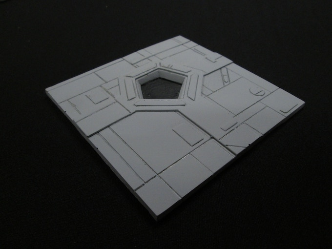 """Space Station Exhaust Port (4x4"""" Resin Tile)"""
