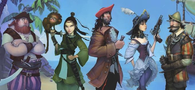 The five legendary pirate captains assemble.