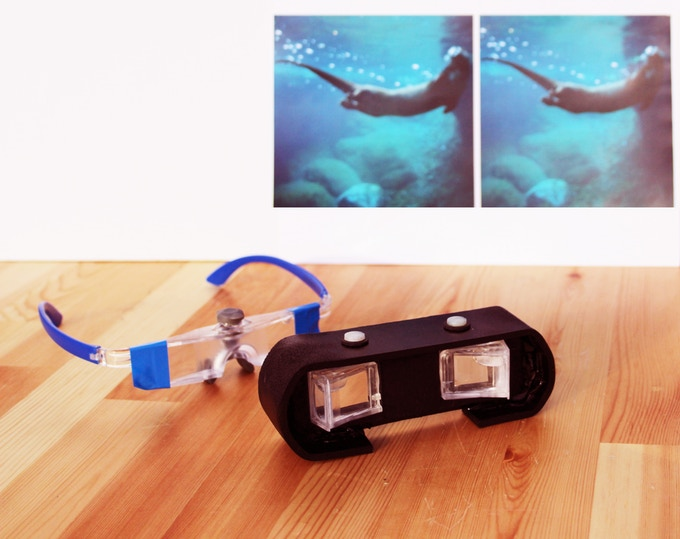 Gift Levels Special Binoculars (Hand-Assembled & most video-compatable version) & 3-D Glasses Prototype Replica.