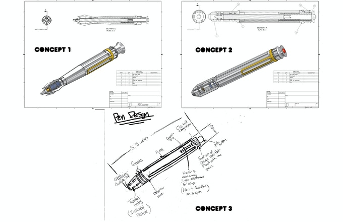 Pen Concepts, first two looked to futuristic and not practical