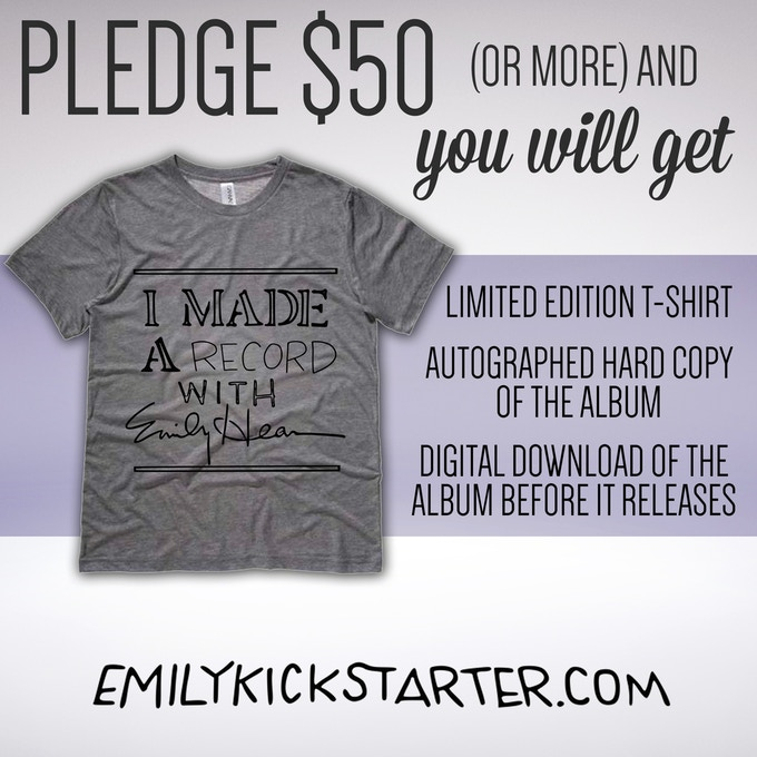 "Limited Edition ""I Made A Record with Emily Hearn"" T-shirt, designed by Emily!"