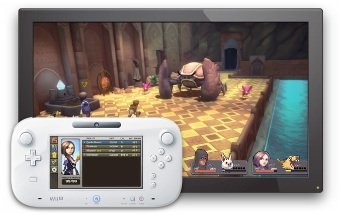 Example of Wii U GamePad implementation
