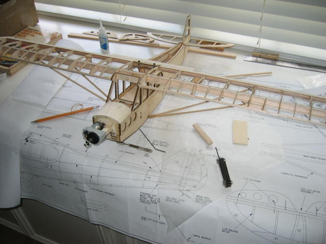 """This is the short kit for the 40"""" Super Cub all built."""