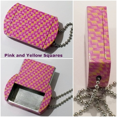 Small Pink and Yellow Squares Using Hydrographics