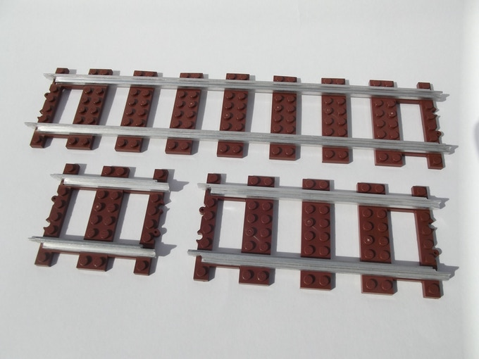 Comparison of ME Models metal rails in half, standard, and double.