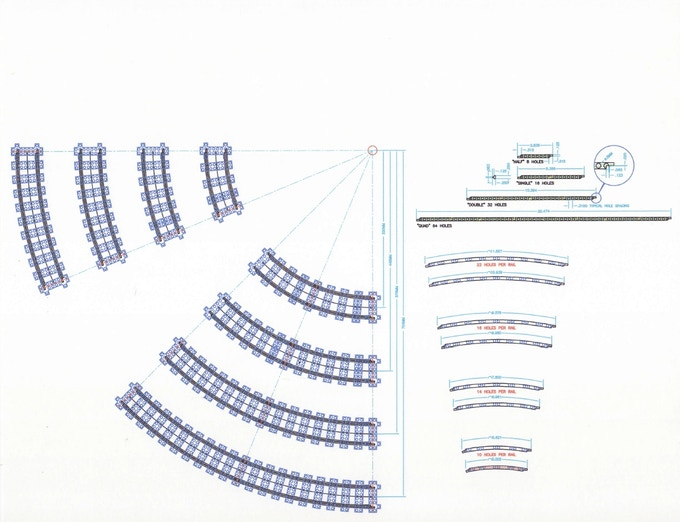 Radii and rails blueprint - R40, R56, R72, R88