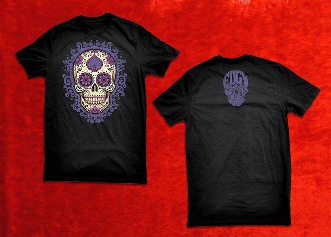 Sugar Skull Spade Shirt