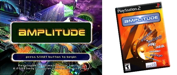 Original game screen and box cover art. The Amplitude logo is a trademark of Sony Computer Entertainment America LLC.