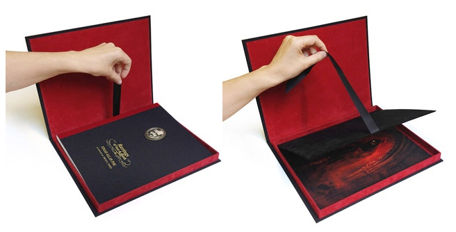 Details of the book and the inside of the slipcase
