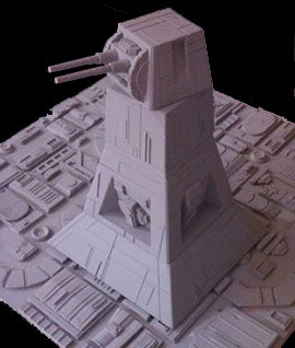 """Space Station Defense Tower [Nearly 7"""" Tall!] (3 piece resin kit)"""