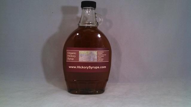 hickory syrup made from shagbark hickory nuts and bark by joseph