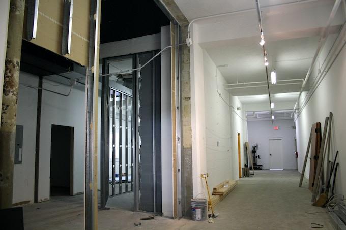 Entrance, cafe/gallery area, under construction