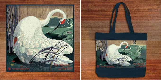 Take the fable with you, wherever you go... FONDNESS LEVEL: Crane Silk Scarf. KINDNESS LEVEL: Crane slim cotton tote