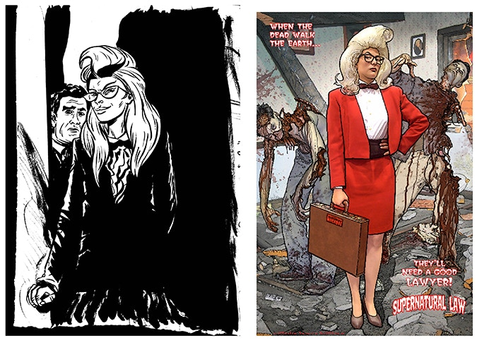 Paul pinups: A page from Paul Pope, and color art for the back cover by Paul Guinan