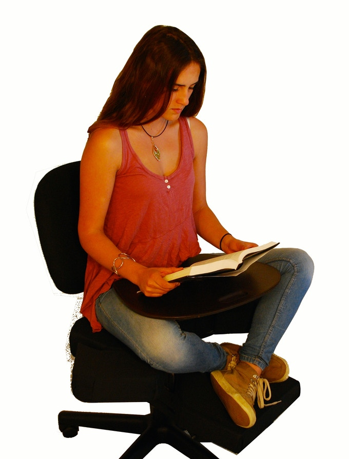 CrossChair - reading with lap desk