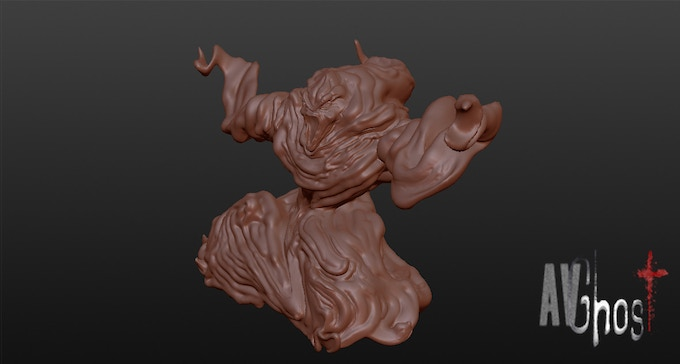 Bull-Ghost 3D model miniature (work in progress).