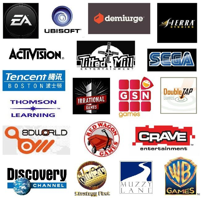 Some of the publishers and developers I've provided audio for.