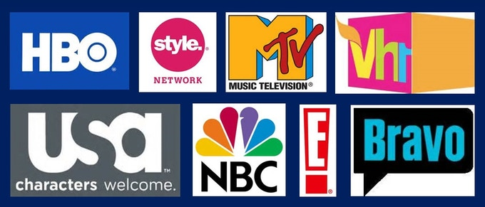 Some of the TV networks my music has been on in recent years.