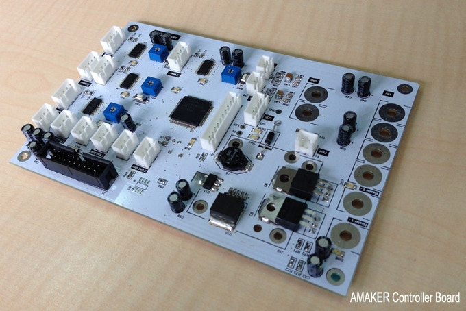 In-house designed controller board that uses 32-bit ARM processor.